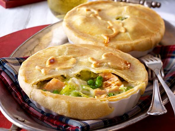 Fishermans Pie (Lachs-Lengfisch-Pie) Rezept