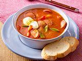 Fixe Currywurstsuppe Rezept
