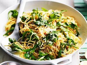 Fixe Rucola-Spaghetti Rezept