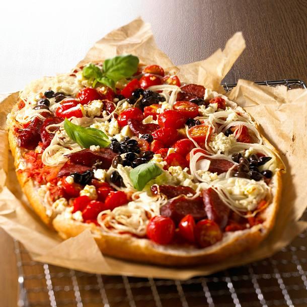Fladenbrot-Pizza Griechenland Rezept