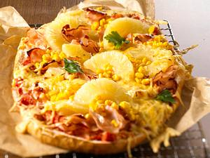 Fladenbrot-Pizza Hawaii Rezept