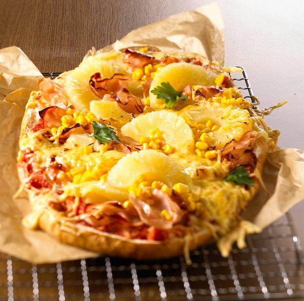Fladenbrot-Pizza Hawaii Rezept