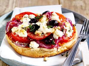 Fladenbrotpizza griechische Art Rezept