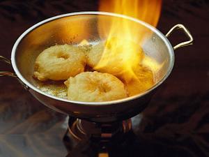 Flambierte Apfelbeignets Rezept