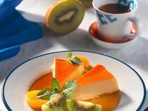 Flan caramel mit Früchten Rezept