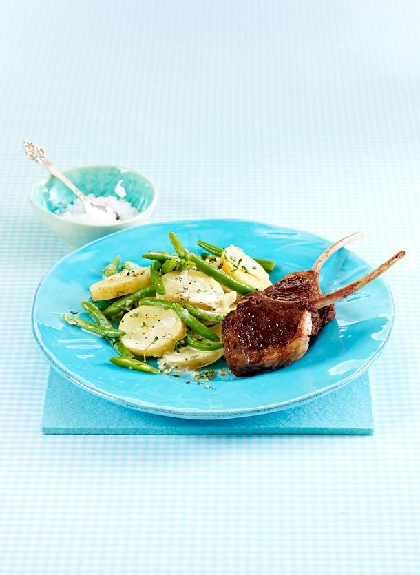 Französisches Kartoffel-Gemüse mit Lammkoteletts Rezept