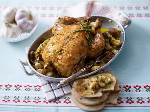 Französisches Knoblauch-Hähnchen (40 Knoblauchzehen Huhn) Rezept