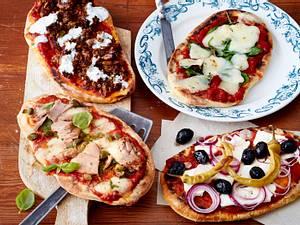 Französisches Pizza-Naan-Brot Rezept