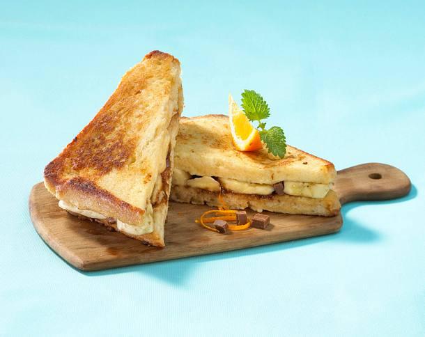French Toast mit Banane und Schoko Rezept