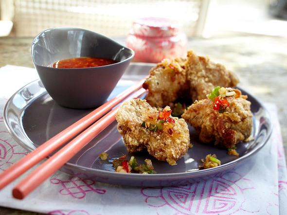 Fried Chicken mit Chilizwiebeln Rezept