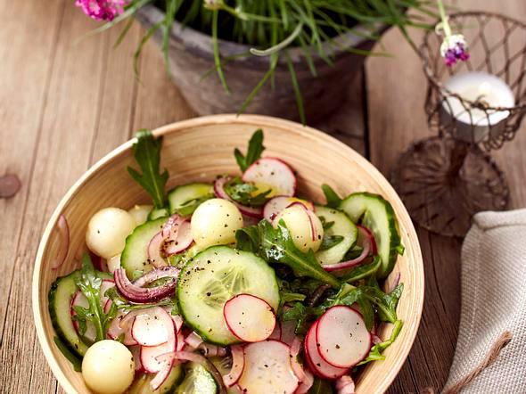 Frischer Gurken-Melonen-Salat Rezept
