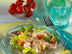Frischer Salat mit Hähnchenbrust Rezept