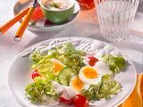 Frischer Salat mit Kresse-Joghurt Rezept