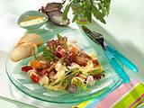Frischer Sommersalat mit Rucola und Serranoschinken (Diabetiker) Rezept