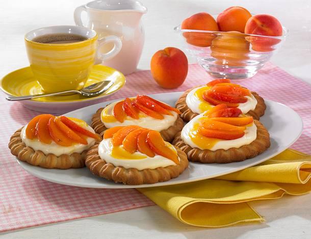 Frischkäse-Aprikosen-Torteletts Rezept