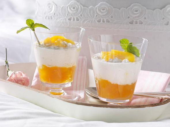 Frischkäse-Traum mit karamellisierten Aprikosen Rezept