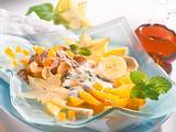 Frischkornmüsli mit exotischen Früchten Rezept