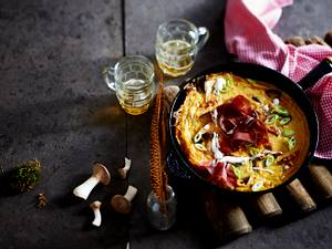 Frittata mit Kräuterseitlingen Rezept
