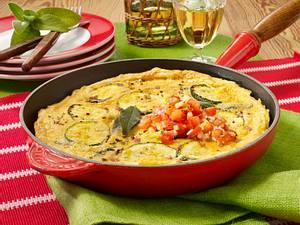 Frittata mit Tomatensalsat Rezept