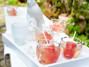Frozen Melonenlollis im Sekt Rezept