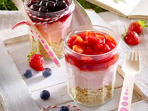 Frucht-Cheesecake im Glas Rezept
