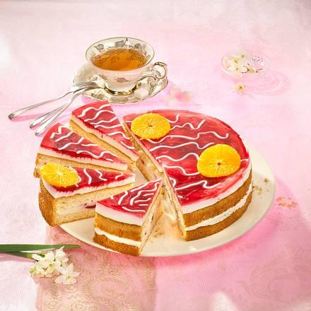 frucht joghurt kuchen mit frischen erdbeeren rezept lecker. Black Bedroom Furniture Sets. Home Design Ideas