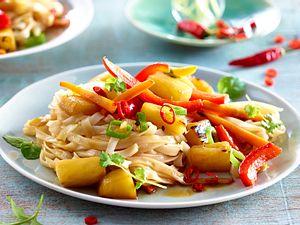 Fruchtige Asia-Gemüsepfanne Rezept