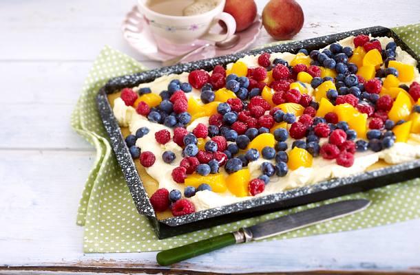 Fruchtige Vanille-Cremeschnitten Rezept