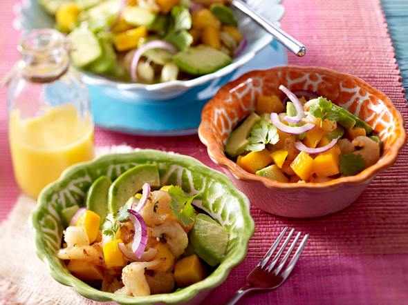 Fruchtiger Garnelen-Avocado-Salat mit Mango Rezept