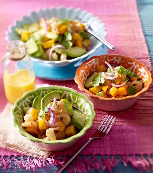 fruchtiger garnelen avocado salat mit mango rezept lecker. Black Bedroom Furniture Sets. Home Design Ideas