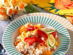 Früchte-Reis mit Mandelkrokant Rezept