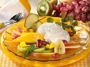 Früchteteller mit Vanillequark Rezept