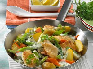 Frühlings-Pannfisch mit Kerbel-Soße Rezept