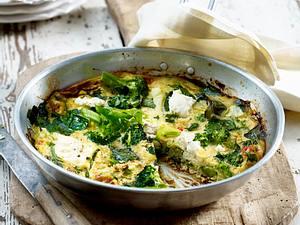 Frühlingsgemüse und Ricotta-Omelett Rezept