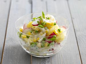 Frühlingshafter Kartoffelsalat mit Mayonnaise Rezept