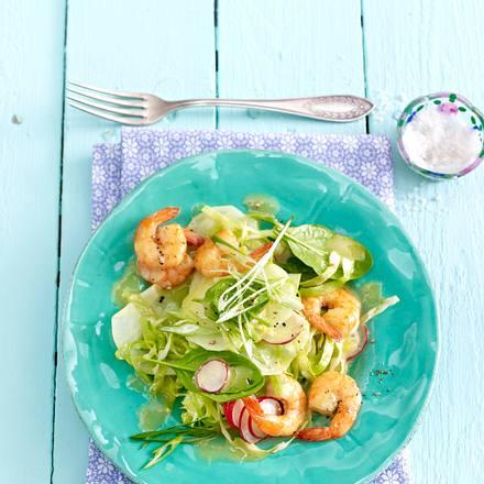 Frühlingssalat mit Garnelen Rezept