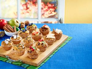 Frühstücks-Muffins 6 mal anders: Apfel-Zimt Rezept