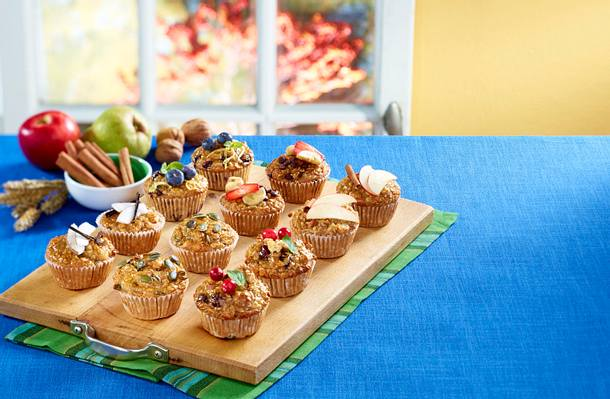 Frühstücks-Muffins 6 mal anders: Banane-Schoko Rezept