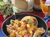 Galette mit Speckkartoffeln und Raclette Rezept
