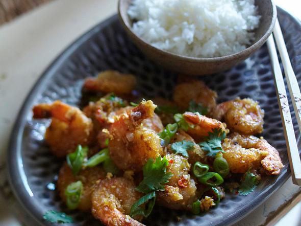 Garnelen mit Ingwer und Zitronengras (Tingling Prawns) Rezept