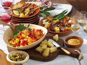 Gazpacho-Salat mit Gambas Rezept
