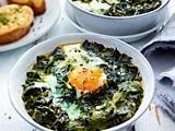 Gebackene Eier auf Spinat Rezept