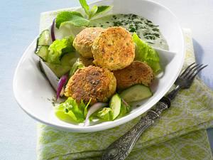 Gebackene Falafel mit Joghurt-Dressing Rezept