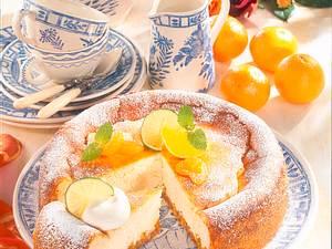 Gebackene Frischkäsetorte mit Mandarinen Rezept