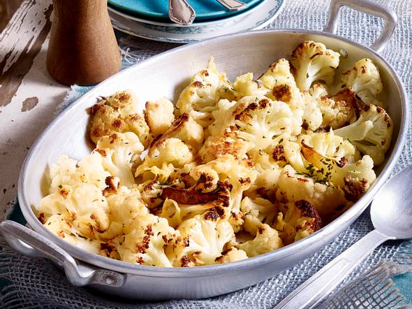 Gebackener Blumenkohl mit Käse Rezept