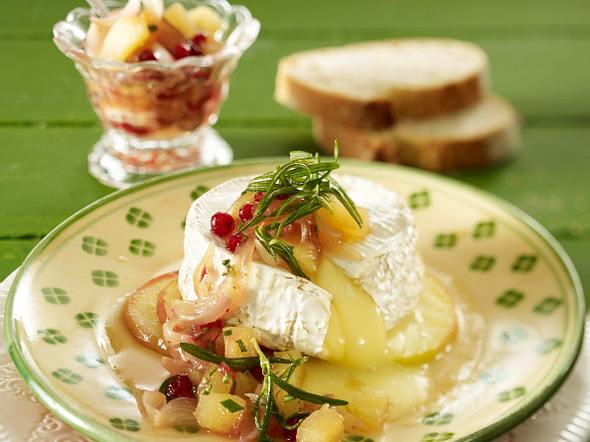 Gebackener Camembert mit Apfelchutney Rezept