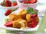 Gebackener Camembert mit Erdbeer-Kiwi-Chutney Rezept