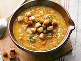 Gebrannte Grießsuppe mit Wintergemüse Rezept