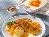 Gebratene Grießnocken mit Mandarinen-Vanille-Soße Rezept