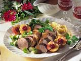 Gebratener Hirschrücken mit Kartoffel-Sellerie-Püree Rezept